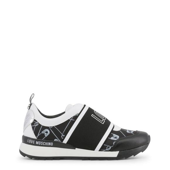 ae8b82c59e7 Love Moschino Shoes | Black Leather Sneakers | Poshmark